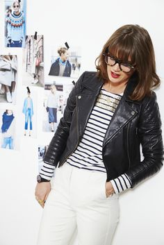 """What I also love to do is pair embellished stripes with a plain trouser, white being the colour of the moment. So fresh."" Sarah, the Boden Stylist. #NewBritish"