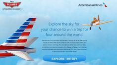 Win a trip for 4 around the world! #Planes #Disney #AmericanAirlines