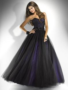 Image result for black and purple dress