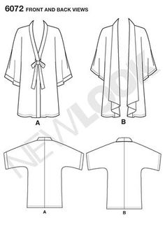 Free Jacket Sewing Patterns | ... project runway misses kimono jacket brensan jacket sewing patterns