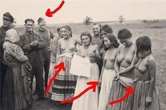 Roma Girls Humiliation WWII