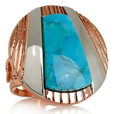Jay King Turquoise and Sterling Silver Copper Disc Ring at HSN.com.