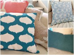 tips for updating your living space: change your throw pillows