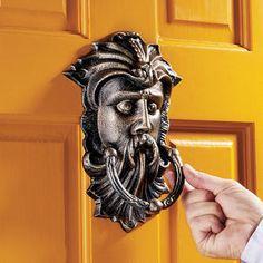 Sutherland House Greenman Authentic Foundry Iron Door Knocker