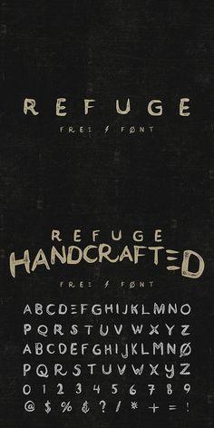 grafiker.de - Refuge: Eine kostenlose Schrift im Vintage-Stil