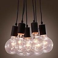 40W Lampe suspendue ,  Contemporain Traditionnel/Classique Rustique Retro Rétro Lanterne Peintures Fonctionnalité for Ampoule incluse – EUR € 92.43