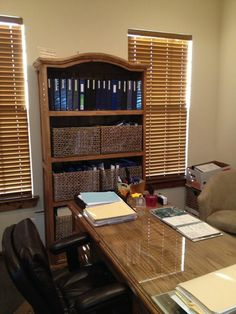 Options for parenting time arrangements and property divisions are continually updated and readily available in office binders Basket Organization, Corner Desk, Organize, Bookcase, Law, Parenting, Furniture, Home Decor, Corner Table
