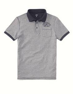 461178272c Polo manches courtes rayé jersey 100% coton
