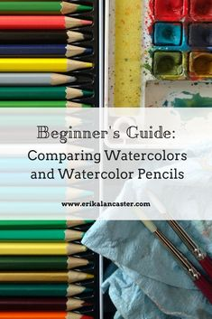 Beginner'S guide: comparing watercolors and watercolor pencils- painting an apple with both traditional watercolor paints and watercolor pencils (video) Easy Watercolor, Watercolor Pencils, Watercolour Painting, Watercolors, Pencil Drawing Tutorials, Art Tutorials, Watercolour Tutorials, Watercolor Techniques, Painting Tutorials