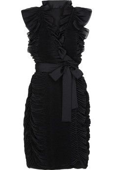 ruffles. I just adore this LBD! Love the small cap sleeves, the ruffles in all the right places, and that lazy bow in front. I would definitely wear this!