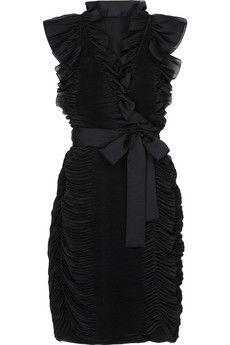 Diane Von Furstenberg pivette ruffled crepe dress.  @Sherri Levek Degraffenreid