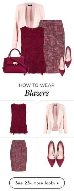 """Spring Work Wear #6"" by alpate on Polyvore featuring ESCADA, Warehouse, Zara and Salvatore Ferragamo"