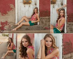 Senior portraits with country charm. Old buildings are the best!