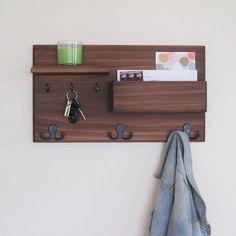 8bf7cff5a65 Entryway Organizer Coat Rack Handmade Key Holder Home Decor Wall Mail  Organizer Office Storage Floating Shelf Wall Hooks Personalized