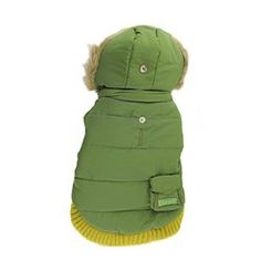 Pocket Dog Parka by Dogo  Green  See description for size ** Click image to review more details.(This is an Amazon affiliate link and I receive a commission for the sales)