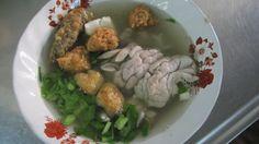 Pork brain soup in Bangkok.