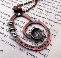 Mixed Metal Necklace  Hand Stamped Jewelry  by FiredUpLadiesHammer, $29.00   Must try!  #ecrafty @Kim at eCrafty.com #stampedmetalblanks #jewelrysupplies  #stampedmetaljewelry #necklacesupplies #ballchainnecklaces #jumprings #metalstampingblanks