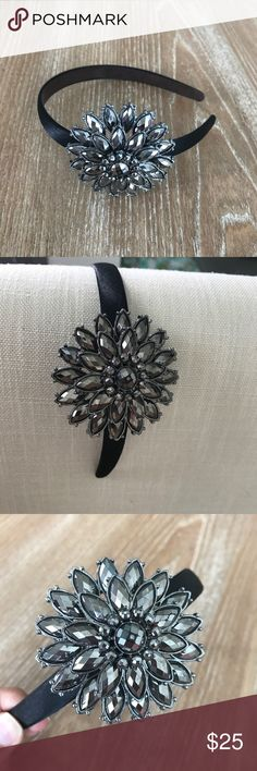 BLACK RHINESTONES FLOWER HEAD BAND  Condition: Never used. Has a slight scratch on one if the stones. Please see last picture. This is adorable for a night out with an up hair do. Smoke free home/Pet hair free No trades, No returns. No modeling   I don't drop prices, make me offers!  Shipping next day. Beautiful package! ALL ITEMS ARE OWNED BY ME. NOT FROM THRIFT STORES All transactions video recorded to ensure quality.  Ask all questions before buying kikisflorida Accessories Hair…