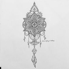 "2,823 gilla-markeringar, 85 kommentarer - Tattoo Designer & Artist (@oliviafaynetattoo) på Instagram: ""Mandala dream catcher for Gemma (all designs are subject to copyright. None are for sale. To order…"""