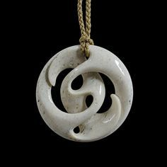 Path of Life Pendant by Kerry Kapua Thompson, Māori artist Wood Carving Art, Bone Carving, Wooden Jewelry, Handmade Jewelry, Bone Crafts, Maori Designs, Bone Jewelry, Maori Art, Carving Designs
