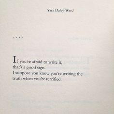Yrsa Daley-Ward | on writing [Bone]