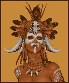 voodoo witch doctor mask - Google Search
