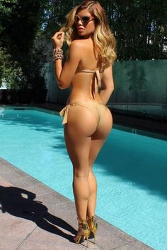 SEXY POOLSIDE LATINA BUBBLE BUTT FANTASY with curvy #Fitness model : if you LOVE Health, Exercise & #Fitspiration - you'll LOVE the #Motivational designs at CageCult Fashion: http://cagecult.com/mma