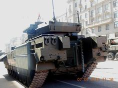 Heavy infantry fighting vehicle T-15 object 149 on heavy unified tracked platform Armata