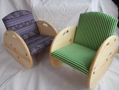 Childrens Rocking Chair by BlackDogTimberworks on Etsy, $95.00