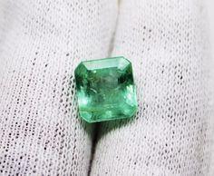 3.14 Ct Fine Natural Emerald Octagon  Russian UnTreated Loose GemStone  #RareGemIN