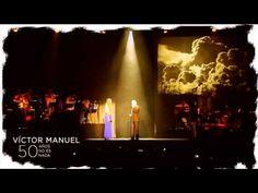 """Víctor Manuel y sus invitados. """"50 años no es nada"""". Espectáculo del 12 de septiembre de 2014.  Festejará sus 50 años de trayectoria el 13 de febrero de 2015. En Madrid."""