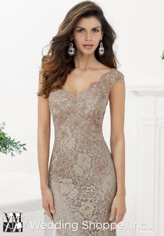 Elegant lace mother of the bride or groom dress.