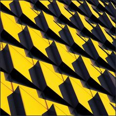 Architectural abstraction in yellow