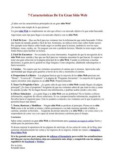 7 Características De Un Gran Sitio Web by Fernando Amaro via Slideshare -> ¿Cuáles son las características principales de un gran sitio Web?    ¡Es mucho más simple de lo que piensas!    Un gran sitio Web es simplemente un sitio que ofrece a su mercado objetivo lo que están buscando.