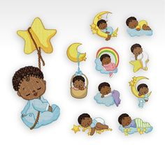 SET of 10  Machine Embroidery Designs  Baby by CeciliasEmbroidery