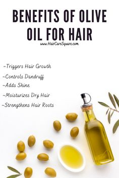 Olive Oil Uses For Hair, Olive Oil Hair Growth, Olive Oil Hair Mask, Olive Oil Hair Treatment, Olive Oil Benefits, Help Hair Grow, Oil For Hair Loss, Hair Remedies, Natural Oils