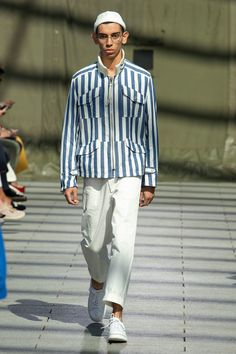 Junya Watanabe Spring 2019 Menswear Fashion Show Collection: See the complete Junya Watanabe Spring 2019 Menswear collection. Look 34