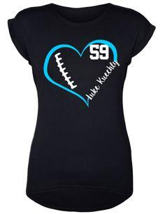 Luke Kuechly // Carolina Panthers // Football Shirt // Football Addict // Sports Fan by DivaDesignsByDesirae on Etsy