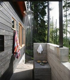 Outdoor Shower in the Forest from Pure Green Magazine | Remodelista