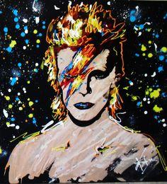 """David Bowie"", by KAT #rocknroll #art"