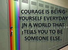 It sounds cliche but really - be yourself, no matter what other people think.