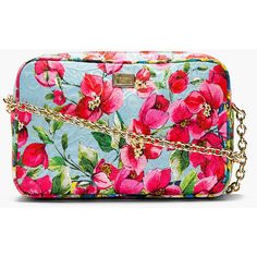 Dolce & Gabbana Pink Floral Print Shoulder Bag ($716) ❤ liked on Polyvore featuring bags, handbags, shoulder bags, purses, clutches, accessories, bolsas, pink shoulder bag, man bag and pink handbags