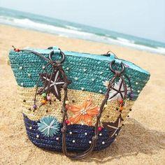 Floral Printed Straw Tote Female handbags – Lifestyleshopee.com