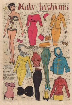 This is another one of my favorite Katy Keene Paper Dolls!