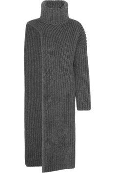 // Stella McCartney Ribbed Wool-Blend Turtleneck Dress // Winter. Chic.