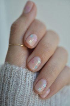 Short Oval Nails, Short Nails Art, Nail Art Designs, Short Nail Designs, Nails Design, Subtle Nail Art, Trendy Nail Art, Design Ongles Courts, Negative Space Nails