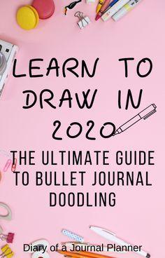 Ultimate List of Bullet Journal Doodles - 50 FREE Step-by-step Instructions Bullet Journal Doodles, Doodle Art Journals, Bullet Journal Ideas Pages, Bullet Journal Inspiration, Bullet Journals, Journal List, Journal Prompts, Junk Journal, Bujo Doodles