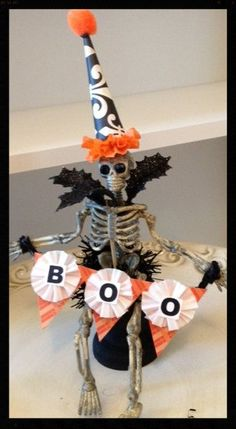 Cute Halloween Assemblage OOAK Halloween Decoration