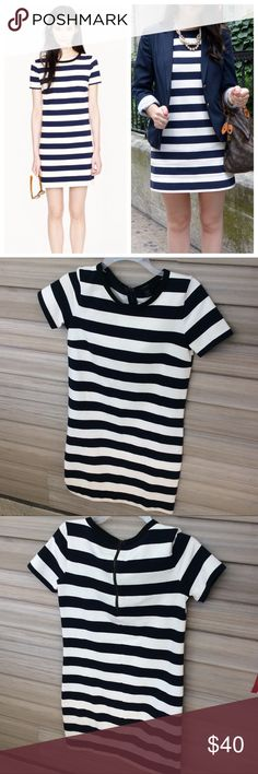 """J Crew Rugby Dress Cotton shift dress with wide navy and white stripes. Approx 33"""" long.   >Condition: Very good  🚫 No Trades ✅ Discounted Bundles ✅ Reasonable Offers J. Crew Dresses Mini"""