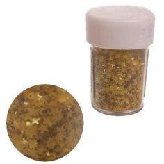 Edible Gold Stars Glitter Sprinkles for Cupcake by BakersBlingShop, $6.50